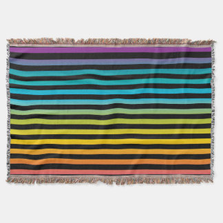 Neon Bright trendy fashion colorful design 6 Throw Blanket