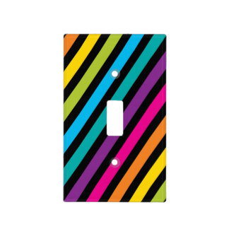 Neon Bright trendy fashion colorful design 7 Light Switch Cover