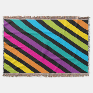 Neon Bright trendy fashion colorful design 7 Throw Blanket