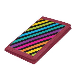 Neon Bright trendy fashion colorful design 7 Tri-fold Wallet