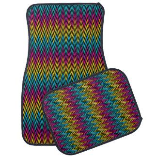 Neon Bright trendy fashion colorful design 8 Car Mat