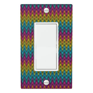 Neon Bright trendy fashion colorful design 8 Light Switch Cover