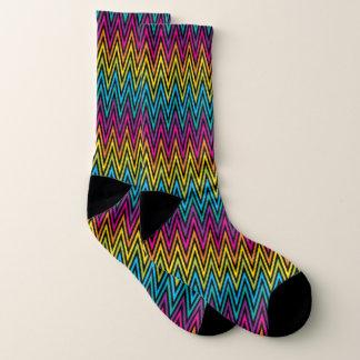 Neon Bright trendy fashion colorful design 8 Socks