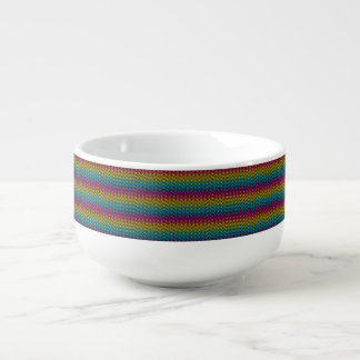 Neon Bright trendy fashion colorful design 8 Soup Mug