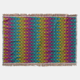 Neon Bright trendy fashion colorful design 8 Throw Blanket
