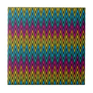 Neon Bright trendy fashion colorful design 8 Tile