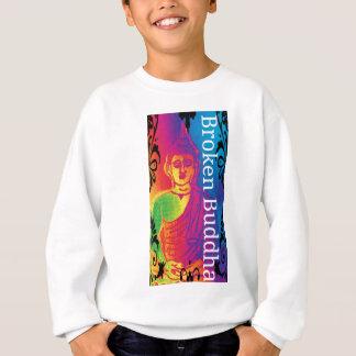 Neon broken buddha sweatshirt