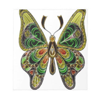 Neon Butterfly Notepad