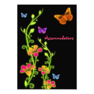 Neon Buttterflies & Flowers Enclosure Card