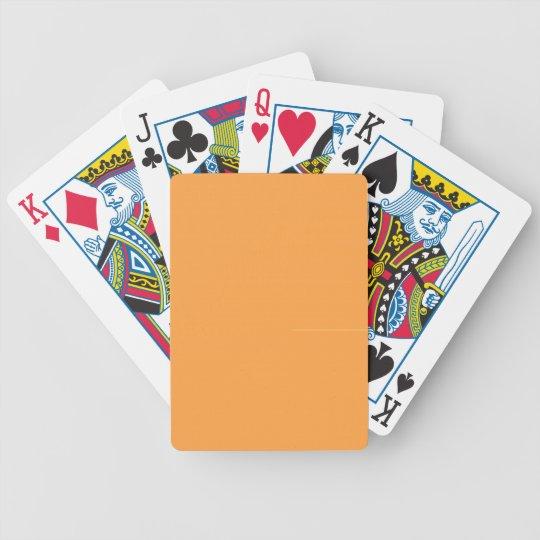 Neon Carrot Poker Deck