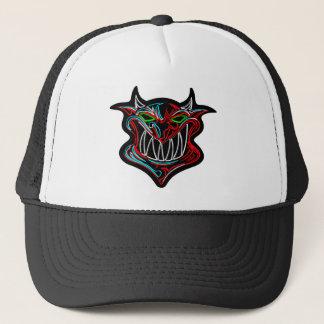 Neon Cartoon Devil Trucker Hat