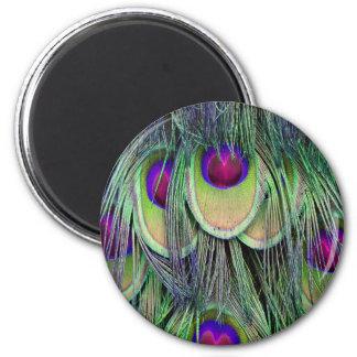 Neon Cascade 2 Inch Round Magnet