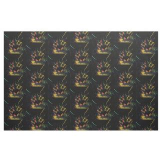Neon Cat Fabric