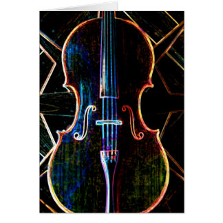 Neon Cello Card