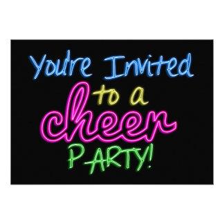 Neon Cheer Party Invitation