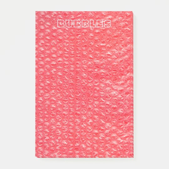 Neon Cherry Red Pop Bubble Wrap Post-it Notes