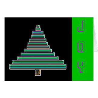 neon christmas tree card