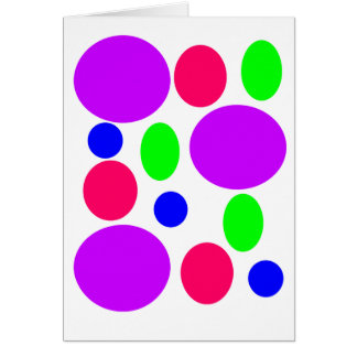 Neon Circles Design Card