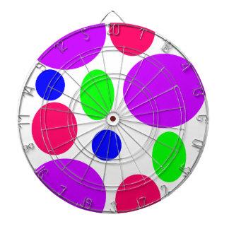 Neon Circles Design Dartboard