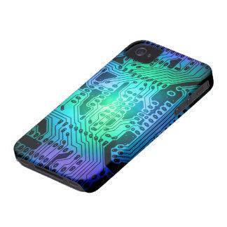 Neon Circult Board iPhone 4, 4S Case