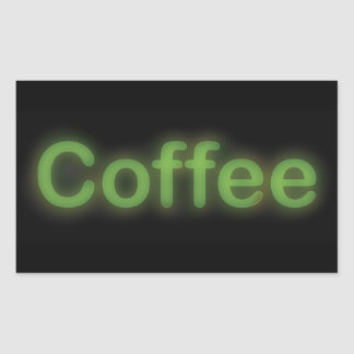 Neon Coffee Sticker