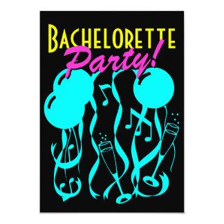 Neon color bachelorette party invitations template