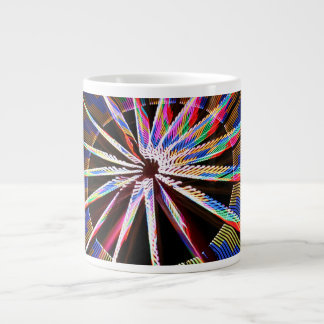 neon colors fair ride image neat abstract design extra large mug