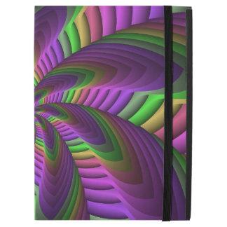 "Neon Colors Flash Crazy Colorful Fractal Pattern iPad Pro 12.9"" Case"