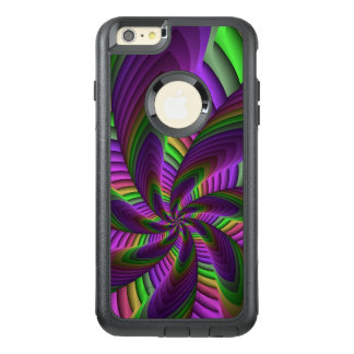 Neon Colors Flash Crazy Colorful Fractal Pattern OtterBox iPhone 6/6s Plus Case