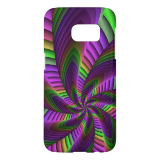Neon Colors Flash Crazy Colorful Fractal Pattern Samsung Galaxy S7 Case