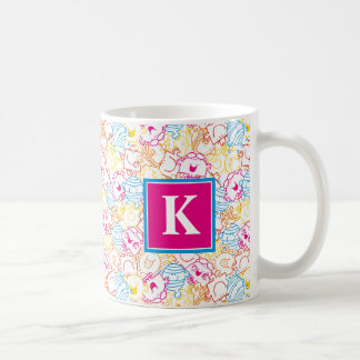 Neon Colors Pattern | Monogram Coffee Mug