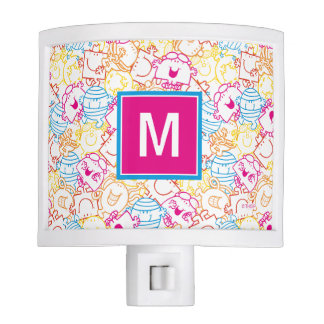 Neon Colors Pattern | Monogram Night Light