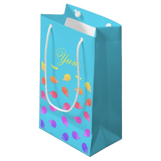 Neon colourful Ice cream gift bag