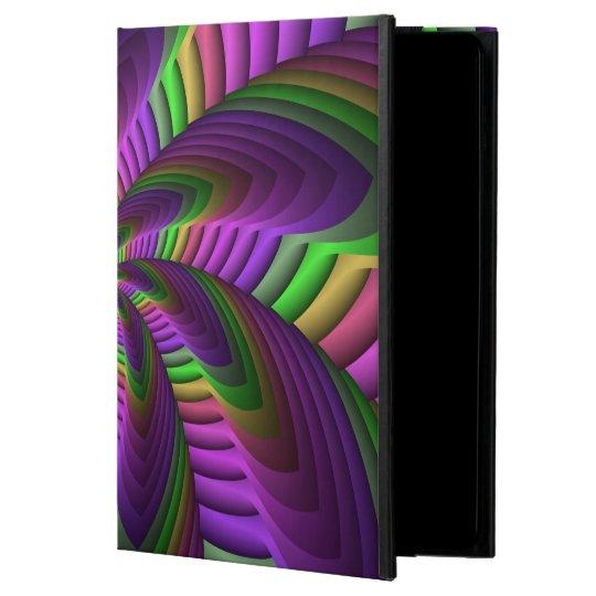 Neon Colours Flash Crazy Colourful Fractal Pattern Powis iPad Air 2 Case