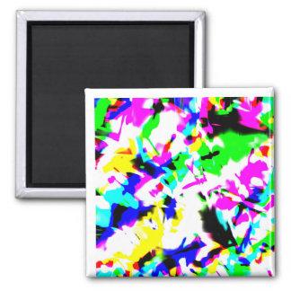 Neon confetti magnet
