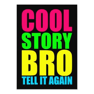 Neon Cool Story Bro 5x7 Paper Invitation Card
