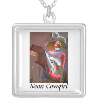 Neon Cowgirl Silver Plated Necklace