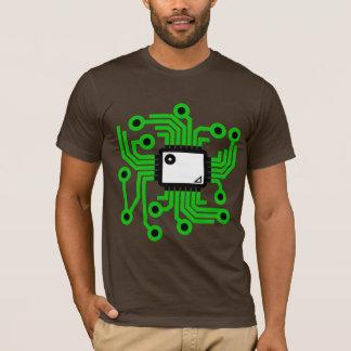 Neon CPU Chip Green T-Shirt