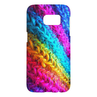 Neon Crochet Rainbow Samsung Galaxy S7 Case