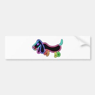Neon Dachshund Bumper Sticker