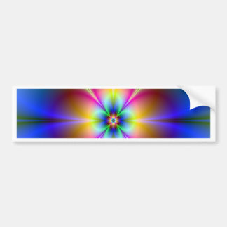 neon daisy focus on goal and success bumper stickers