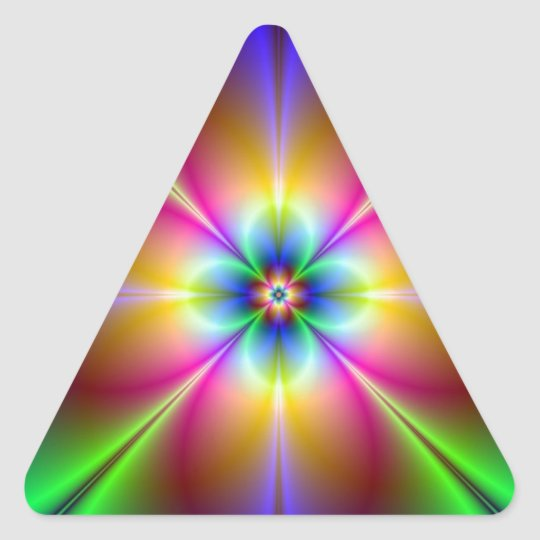 Neon Daisy Triangle Sticker