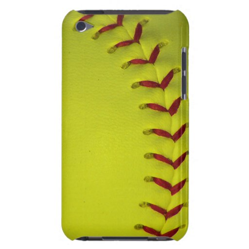 Neon Dayglo Yellow Softball / Baseball Barely There iPod Case