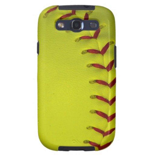 Neon Dayglo Yellow Softball / Baseball Samsung Galaxy S3 Case