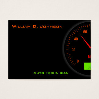 Neon Digital Speedometer Mechanic, Motor Industry Business Card