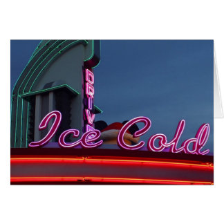 Neon Diners Ice Cold Card