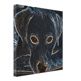 Neon Dog Canvas Print