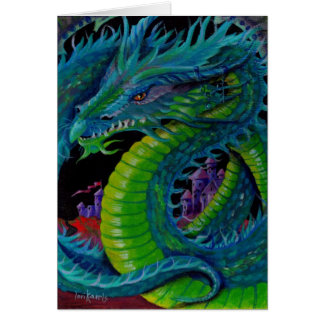 NEON DRAGON II by Lori Karels Card