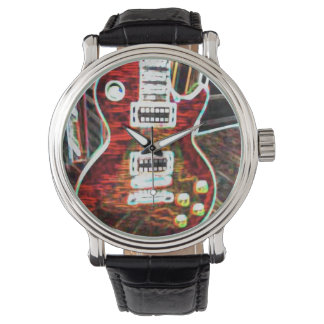 Neon Electric Guitar Watch