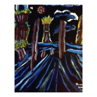 Neon Electric Trees Letterhead